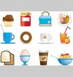Breakfast icons vector