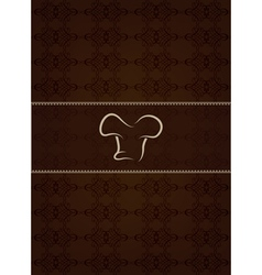 Brown restaurant menu and floral texture vector image