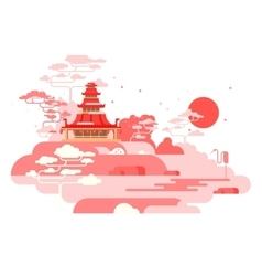 China painted landscape vector image vector image