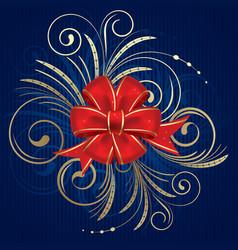 Christmas bow vector image