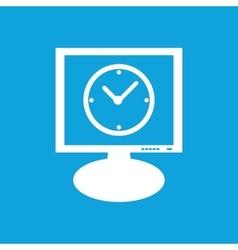 Clock monitor icon vector
