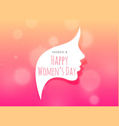 female face creative design for womans day vector image