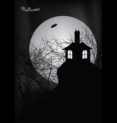halloween haunted house vector image vector image