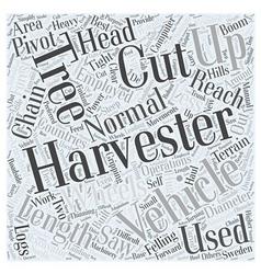 Harvester word cloud concept vector