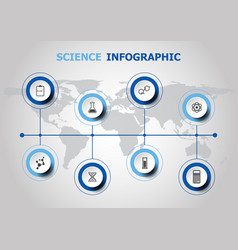 infographic design with science icons vector image vector image