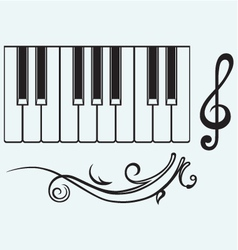 Piano and treble clef vector image vector image