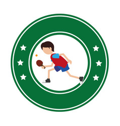 ping pong player avatar vector image vector image
