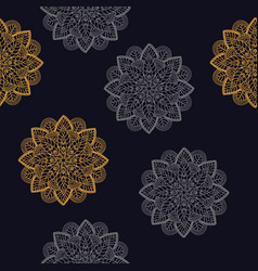 seamless pattern vintage decorative elements vector image vector image