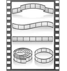 set filmstripe icons vector image