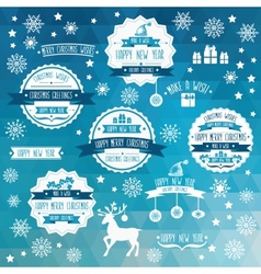 Set of creative Christmas badges vector image