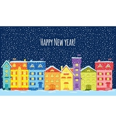 Winter night Happy New Year vector image vector image