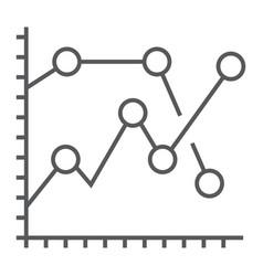 analytics graph thin line icon development vector image vector image