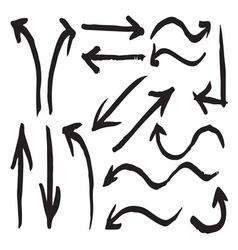 Arrows hand written1 resize vector image