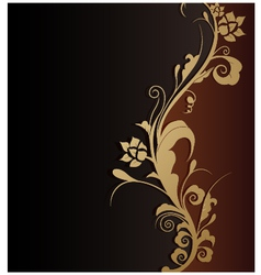 beauty floral background vector image vector image