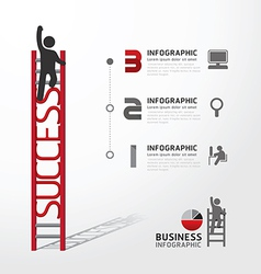 Business Infographic climbing ladder concept vector image vector image