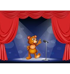 Cartoon Performing Bear vector image