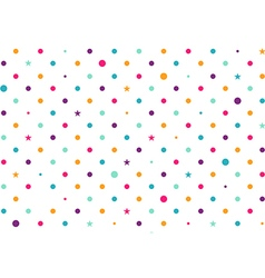 Pastel Colorful Dots White Background vector image vector image