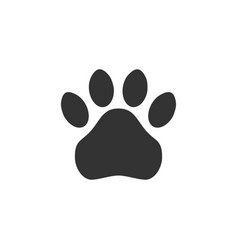 paw print simple monochrome pets footprint vector image vector image