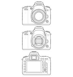 DSLR Camera Outline vector image