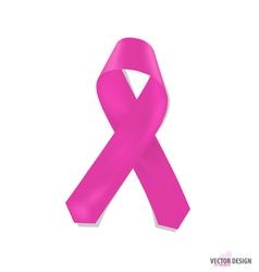 Pink ribbons vector image vector image