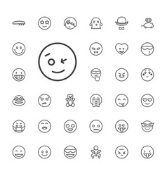 33 funny icons vector