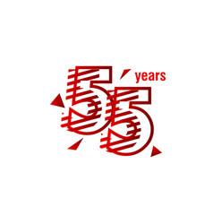 55 years anniversary celebration template design vector