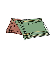 A pair of books vector