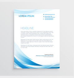 Abstract blue letterhead design vector