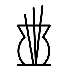 Air oil diffuser icon outline style vector