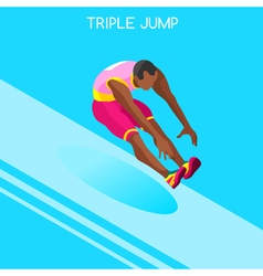 Athletics Jump 2016 Summer Games 3D vector image