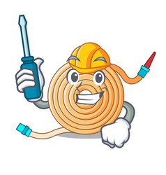 Automotive the water hose mascot vector