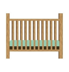 Baby crib with wood railing vector