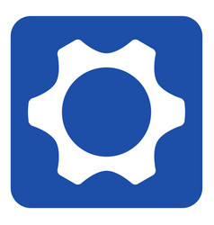 blue white information sign - cogwheel icon vector image