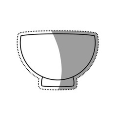 Bowl empty porcelain utensil vector