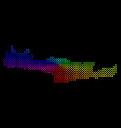 Bright dot crete island map vector