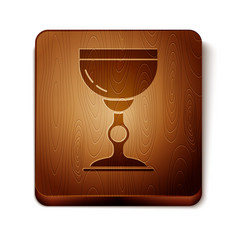 Brown jewish goblet icon isolated on white vector