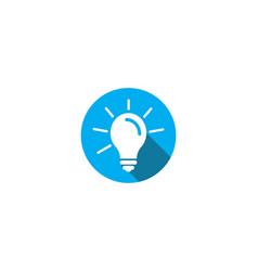 bulb illustration logo vector image