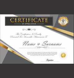 Certificate retro design template 4 vector