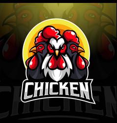 Chicken mascot logo vector