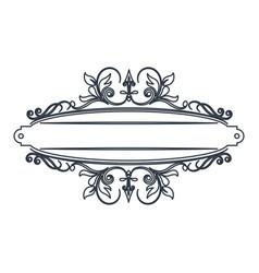 Classic signboard swirls decoration template vector