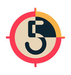 Countdown flat vector