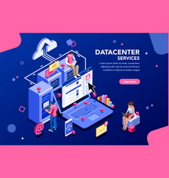 datacenter concept website banner vector image
