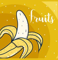 Delicious fruits cartooon vector