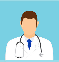 doctor icon man physician medic with stethoscope vector image
