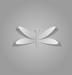 Dragonfly cut from paper vector image vector image