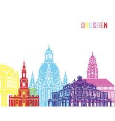 Dresden skyline pop vector