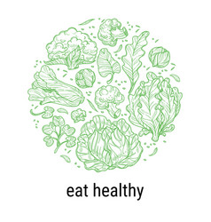 Eat healthy organic and natural food products vector