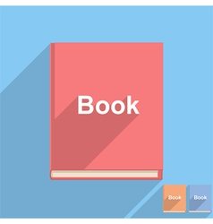 Flat Book Icon vector