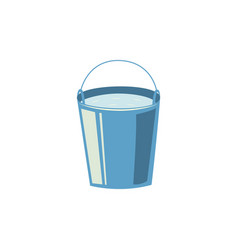 flat steel water bucket icon vector image