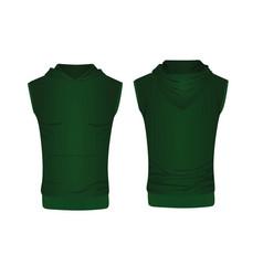 Green hoodie top tank vector